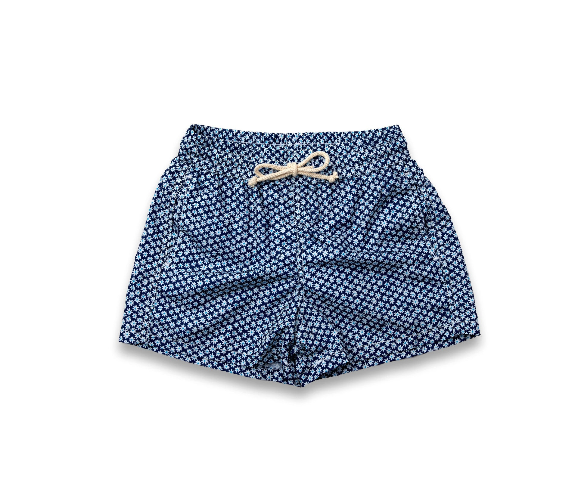 Boys Swim Trunks // Navy Flowers
