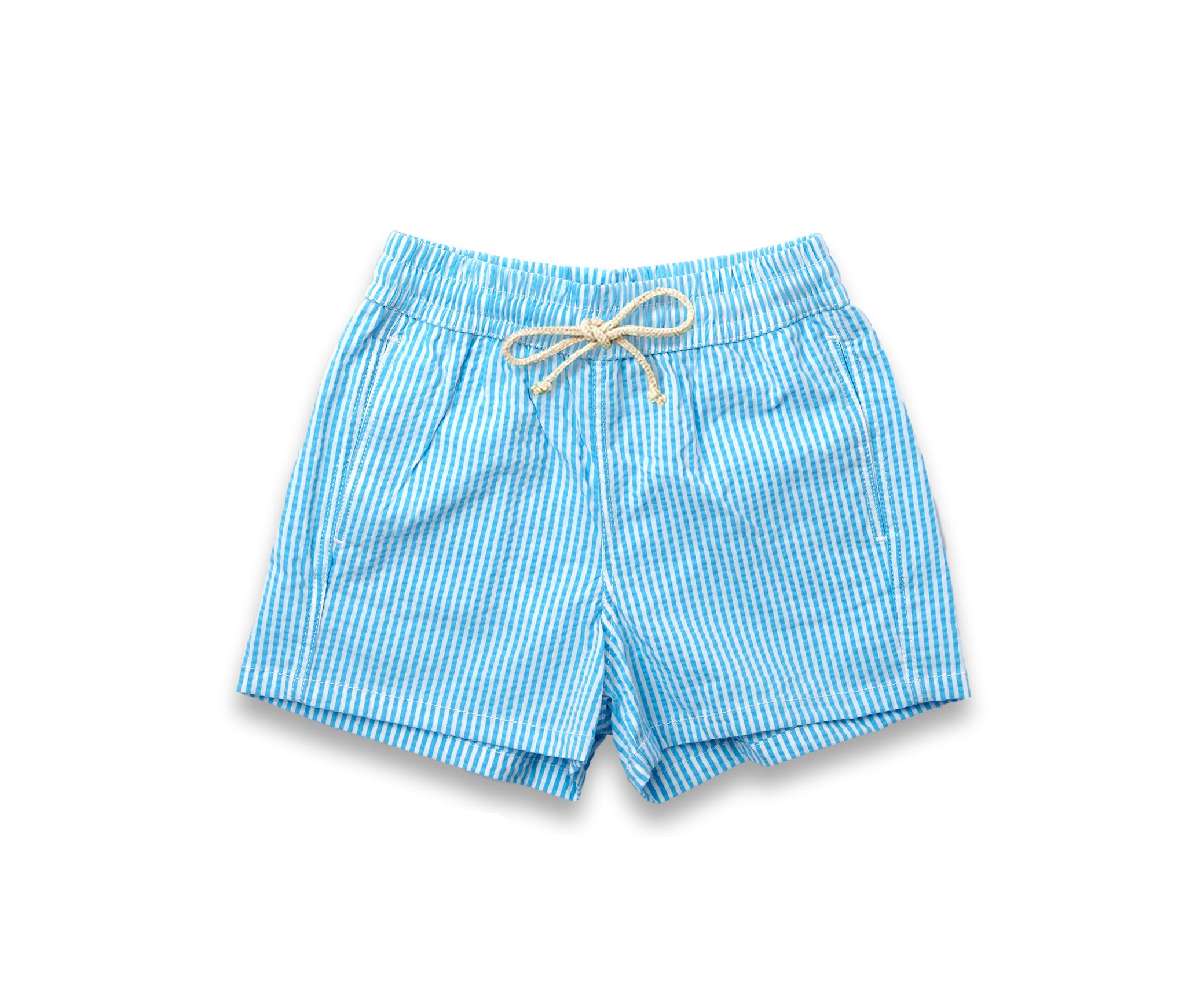 Boys Swim Trunks // Sky Blue Stripe