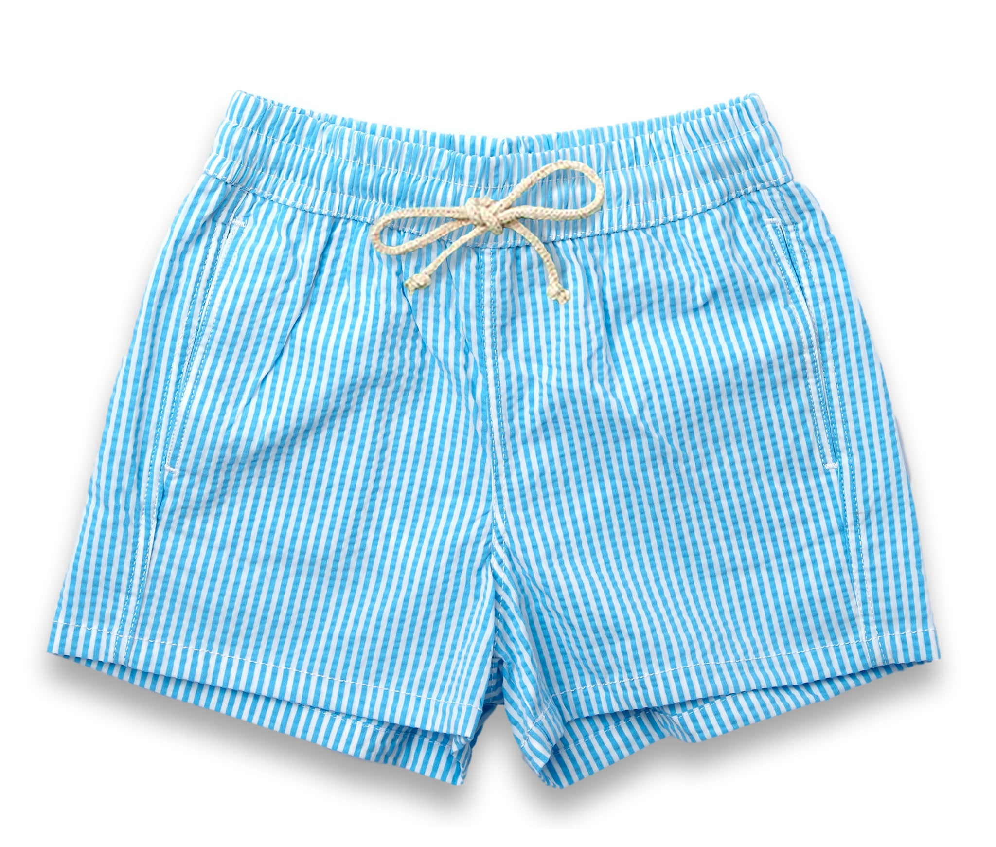 Mens Swim Trunks // Sky Blue Stripe