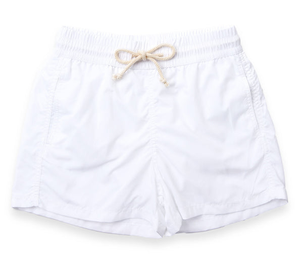 Mens Swim Trunks // White