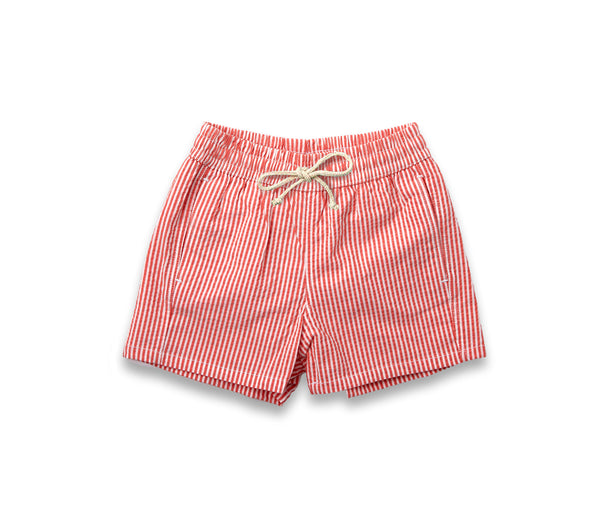 Boys Swim Trunks // Hamptons Red Stripe