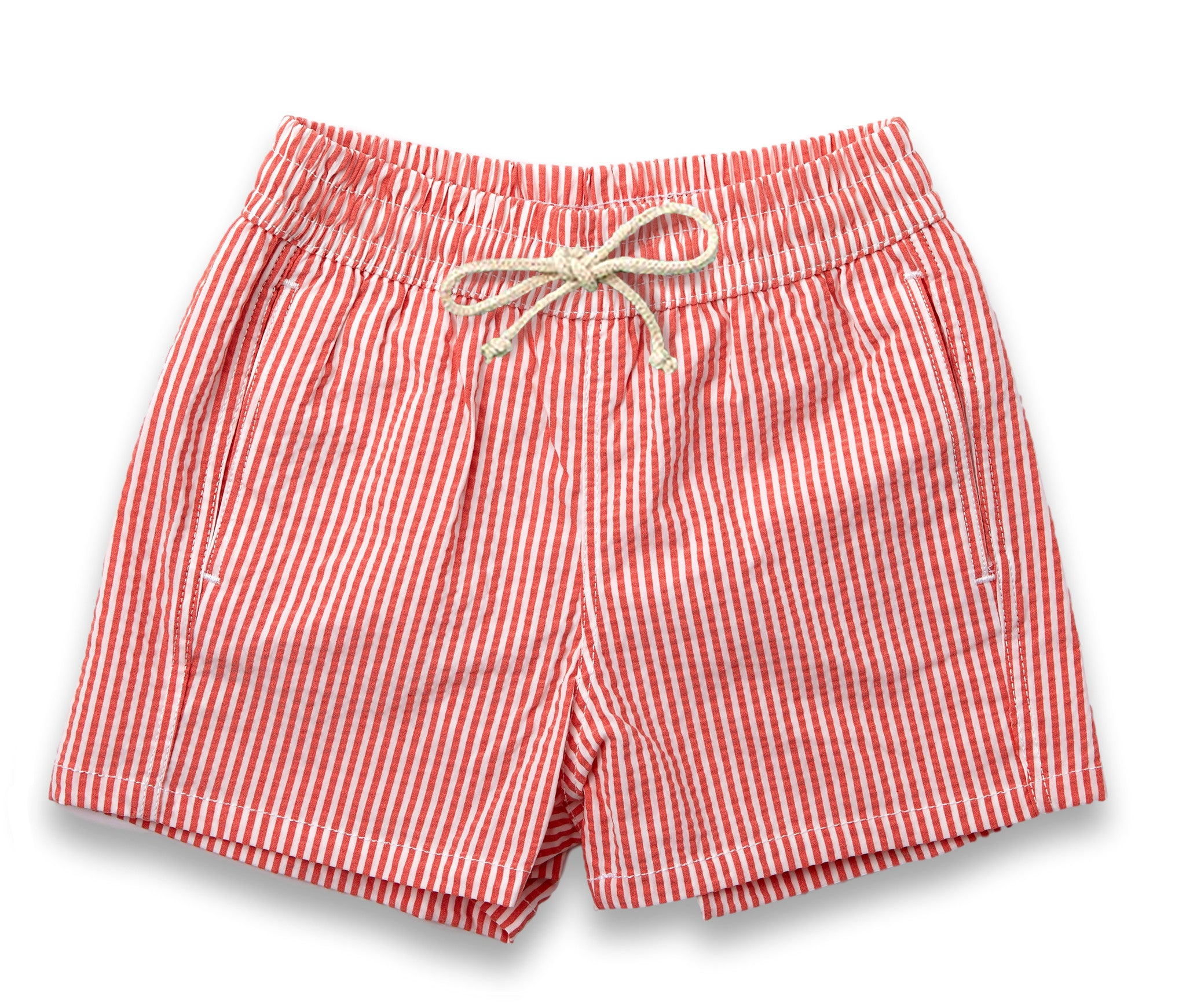 Mens Swim Trunks // Hamptons Red Stripe