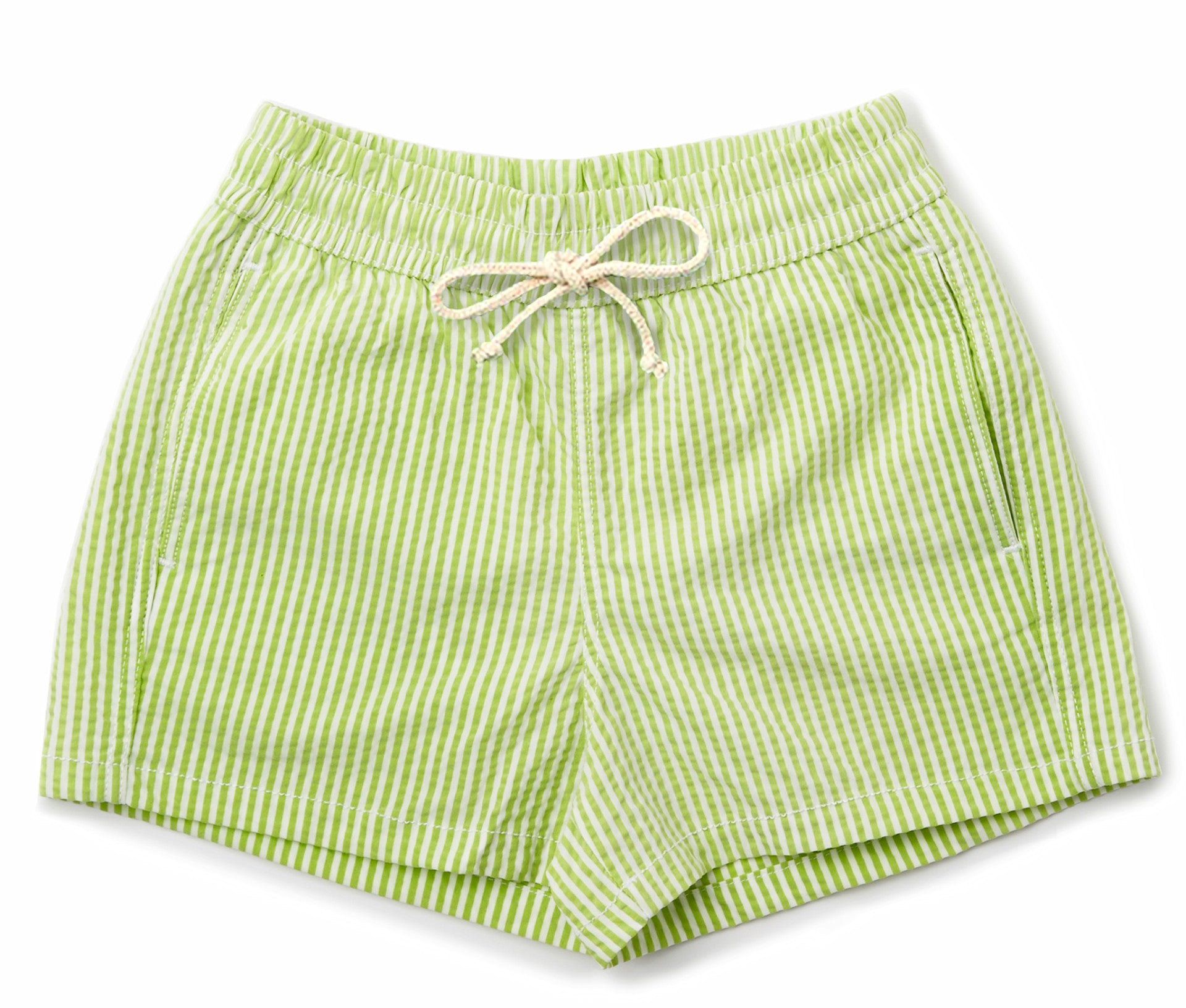 Mens Swim Trunks // Lime Stripe