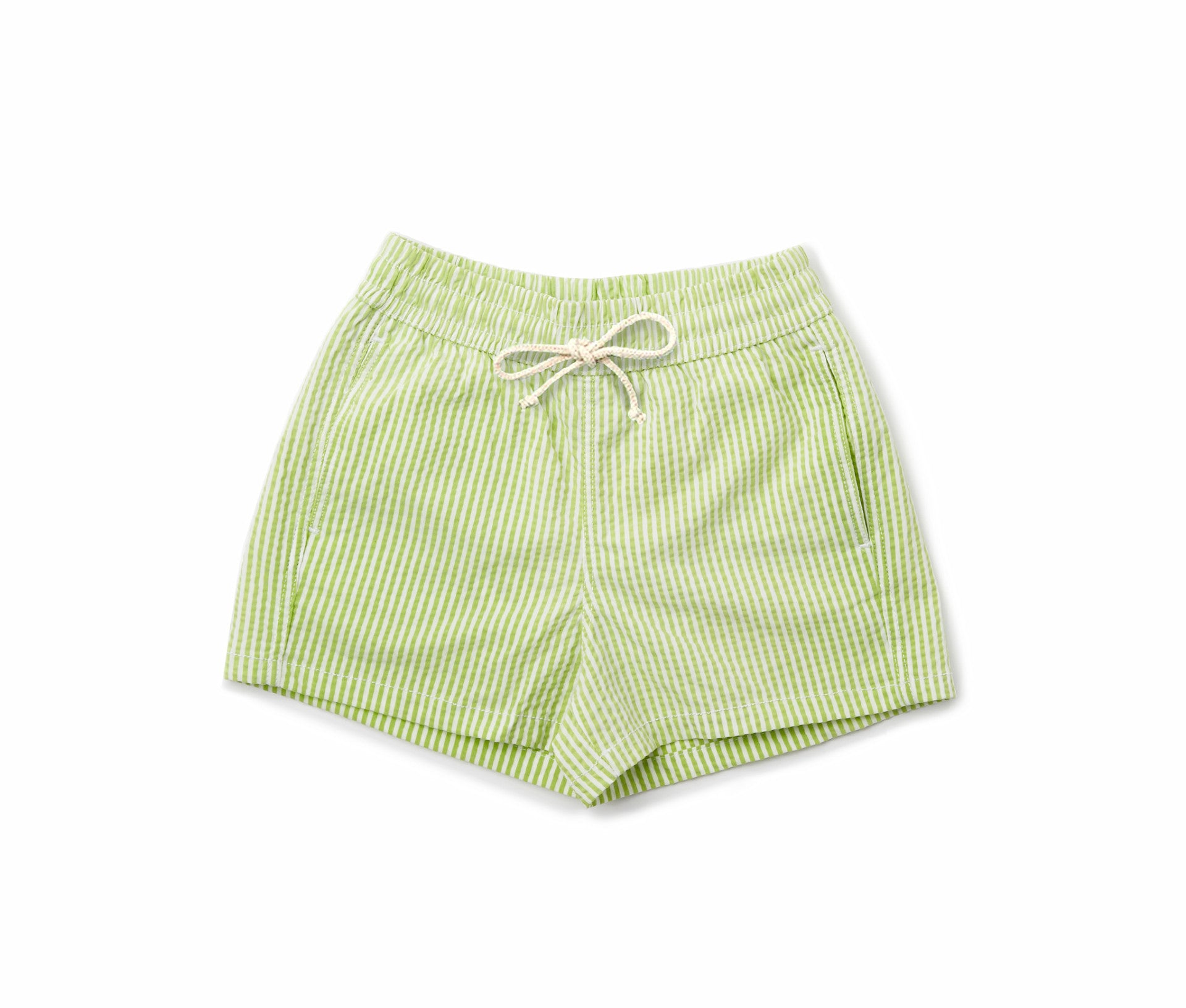 Boys Swim Trunks // Lime Stripe