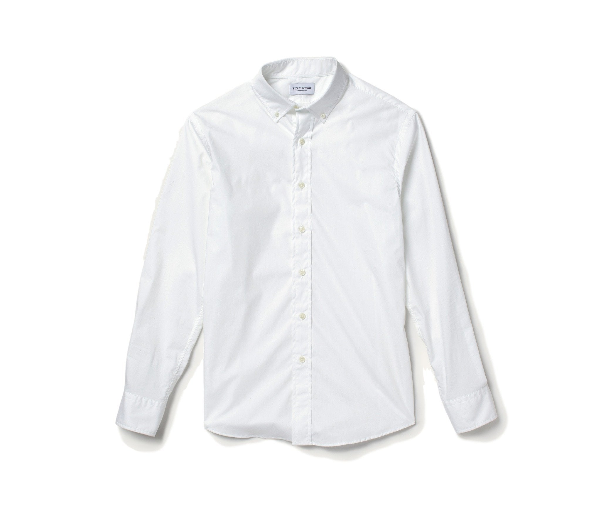 Stretch Poplin Shirt // White