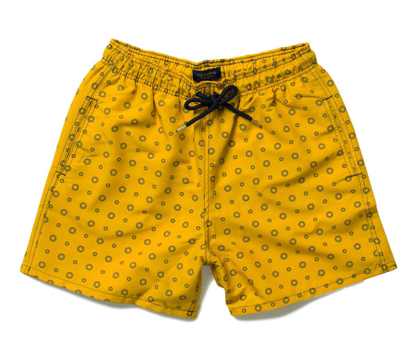 Big Flower Swim Trunks // Saffron