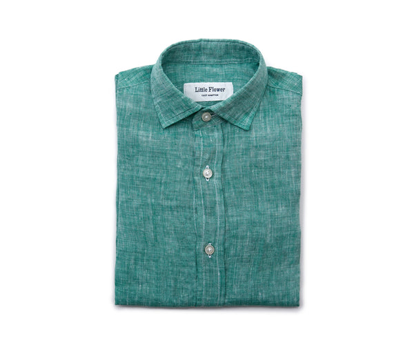 Boys Linen Shirt // Grass