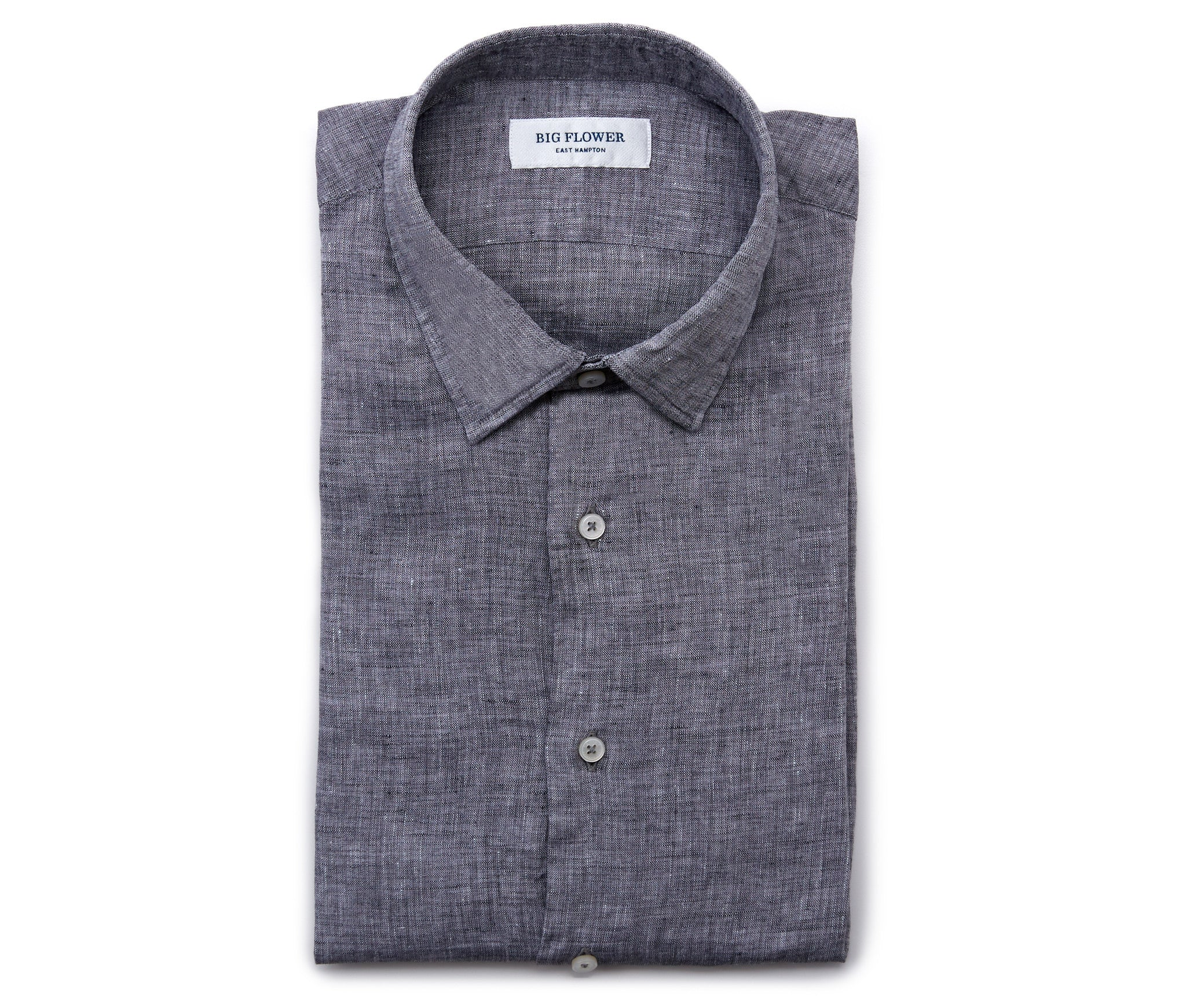 Italian Linen Slim Fit Shirt // Charcoal