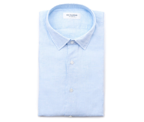 Italian Linen Slim Fit Shirt // Sky