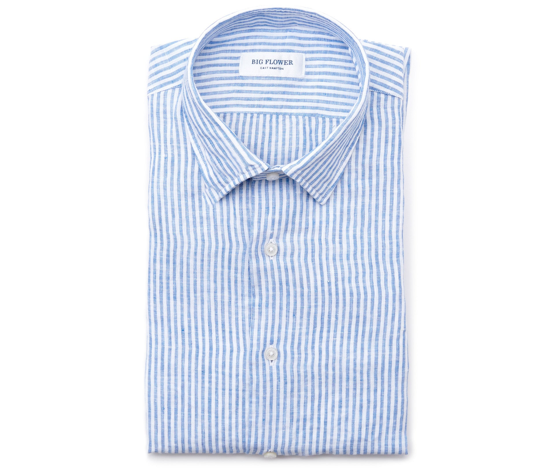 Italian Linen Slim Fit Shirt // Blue Stripe