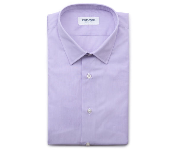 Italian Striped Cotton Shirt // Lavender