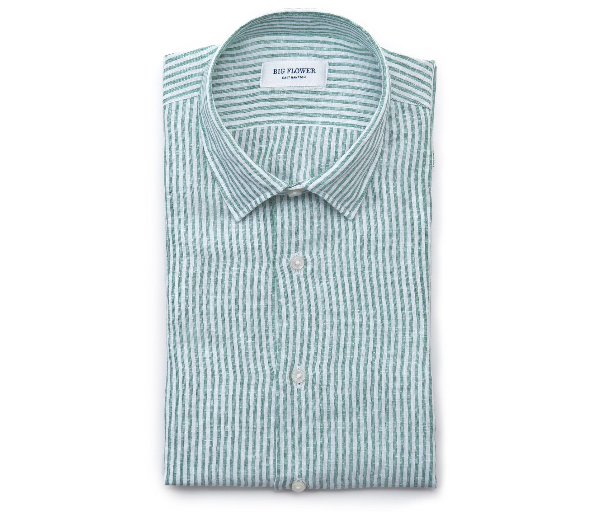 Mens Striped Linen Shirt