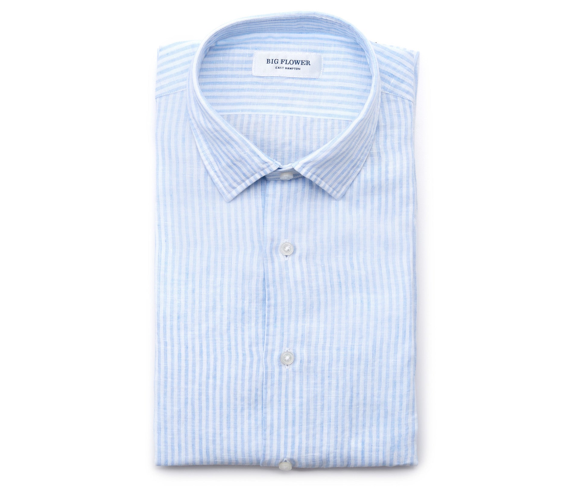 Italian Linen Slim Fit Shirt // Sky Stripe
