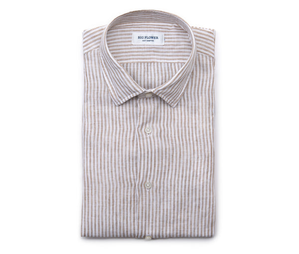 Italian Striped Linen Shirt