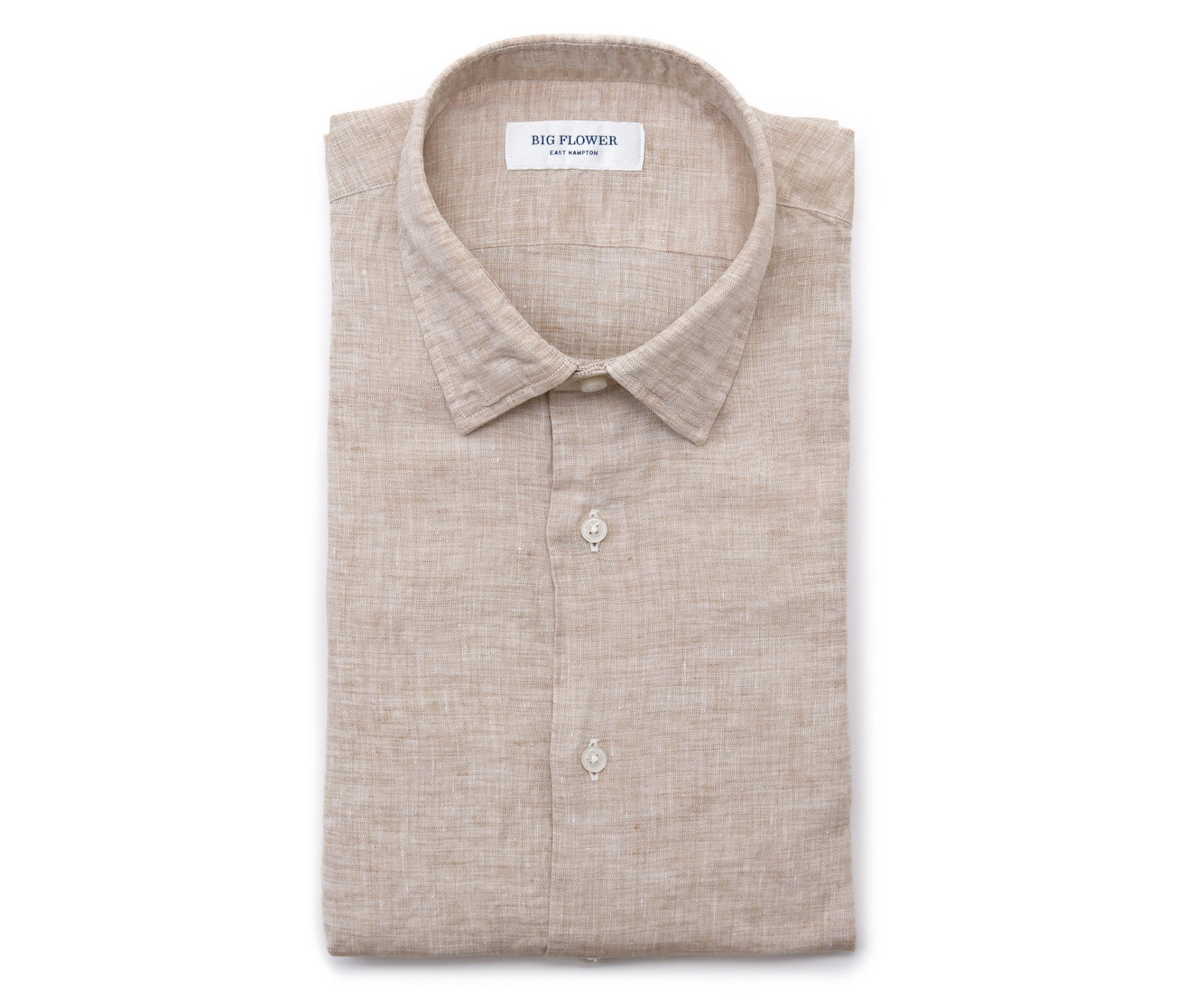 Italian Linen Slim Fit Shirt // Oat