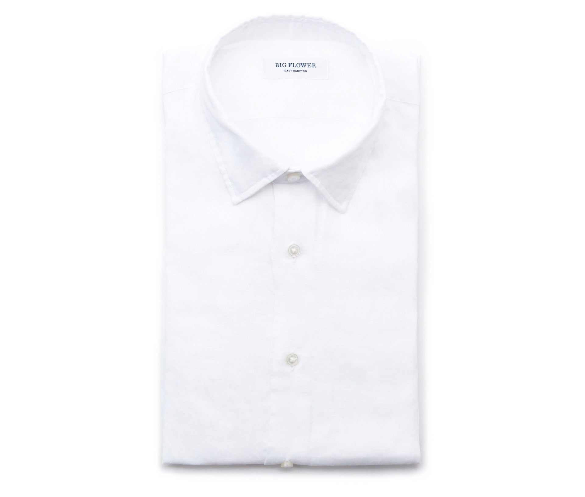 Italian Linen Slim Fit Shirt // Cloud