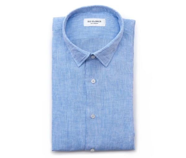 Italian Linen Slim Fit Shirt // Blue