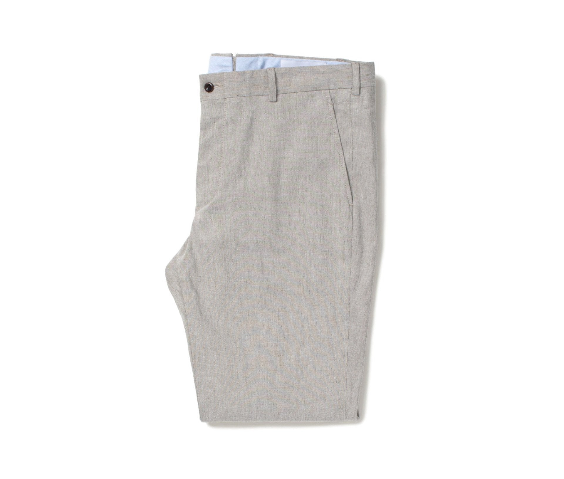 Stretch Linen Trousers // Oat