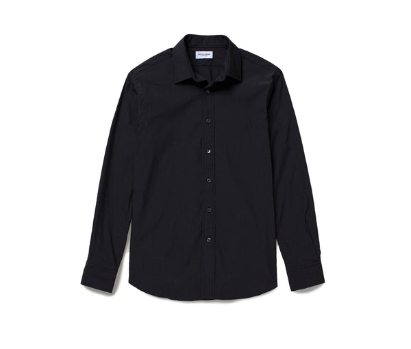Stretch Chambray Shirt // Black