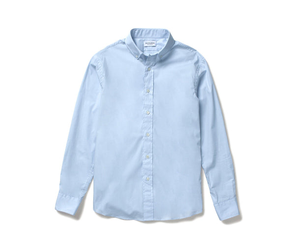 Stretch Poplin Shirt // Sky