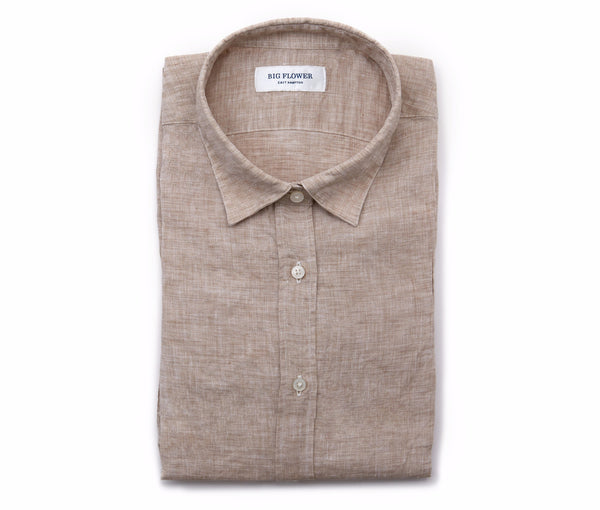 Womens Linen Shirt // Oat