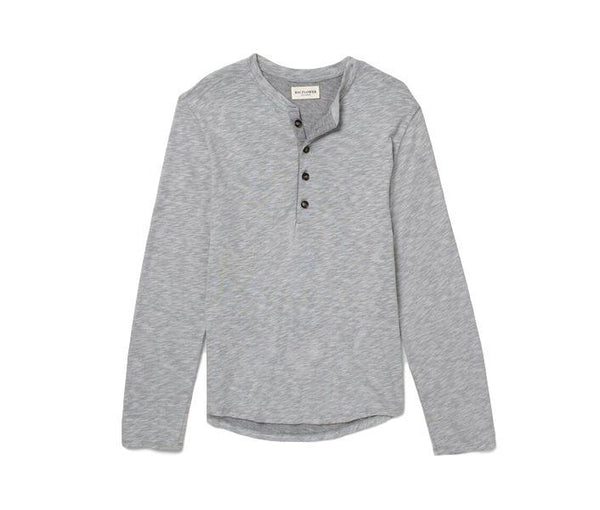 Japanese Cotton Henley // Grey