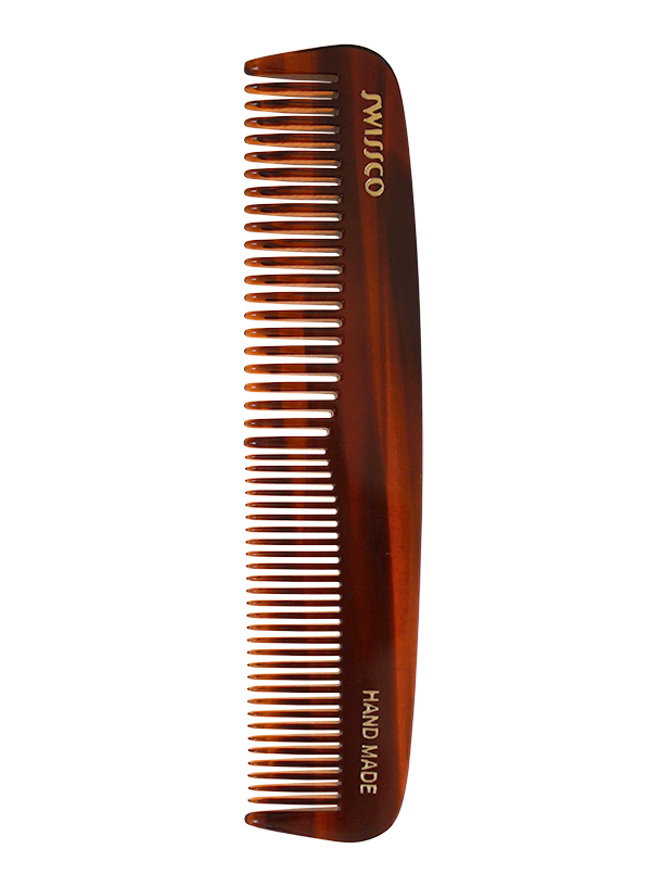 Tortoise Pocket Comb, Medium & Fine Tooth.