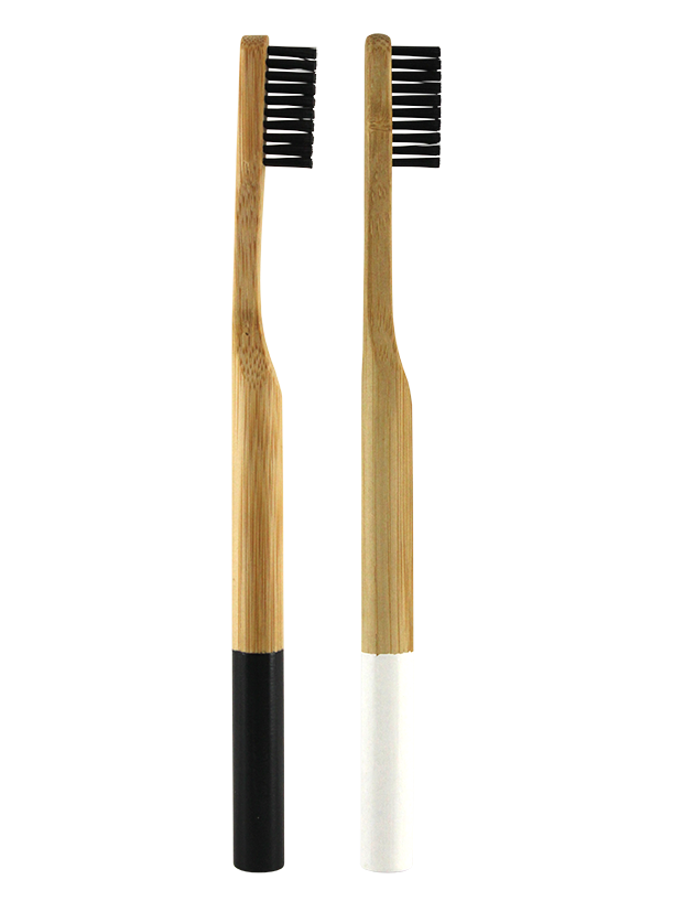 2PK BAMBOO HANDLE CHARCOAL TOOTHBRUSH SOFT