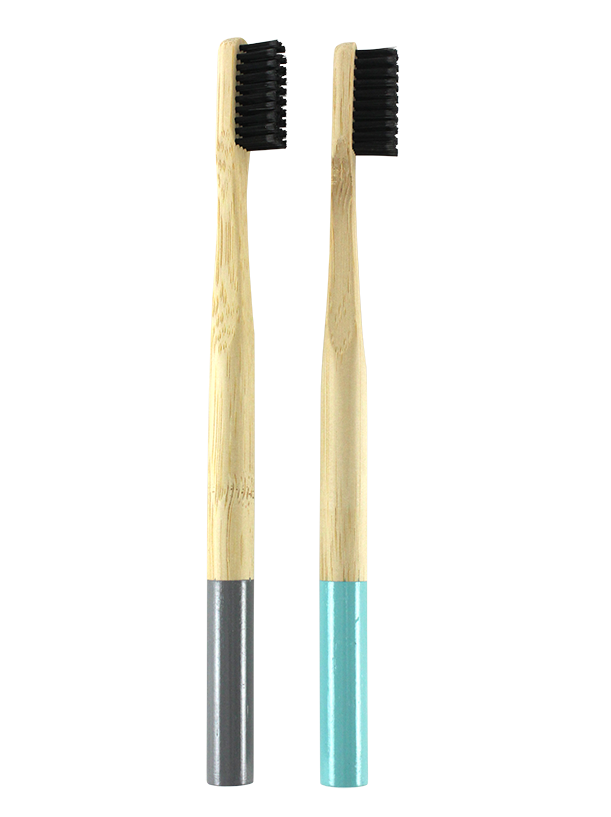 2PK BAMBOO HANDLE CHARCOAL TOOTHBRUSH MEDIUM