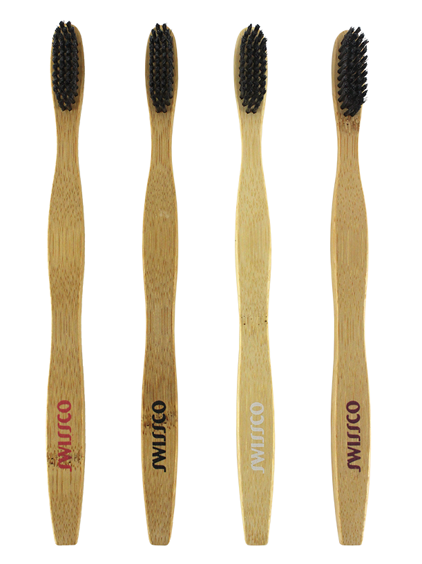 4PK BAMBOO HANDLE CHARCOAL TOOTHBRUSH SOFT