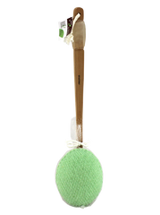 Exfoliating Body Sponge on Wooden Handle Cotton Rope