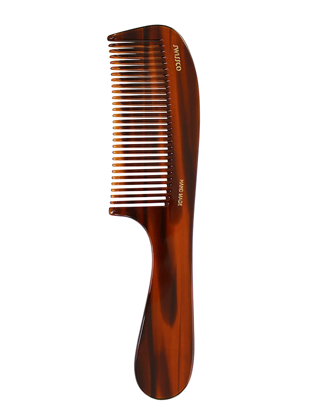 Tortoise Handle Comb, Medium Tooth.