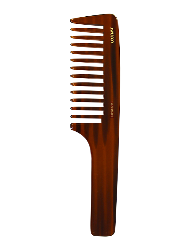 Tortoise Handle Comb, Wide Tooth.