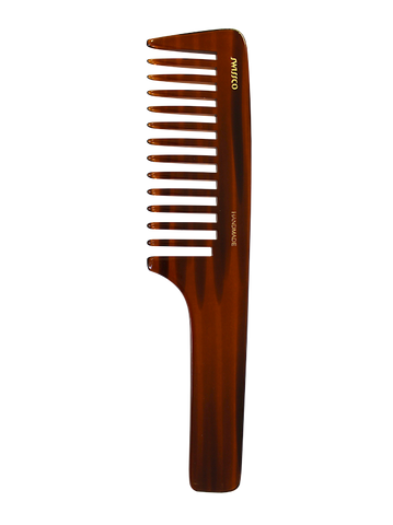 Tortoise Handle Comb - Wide Tooth