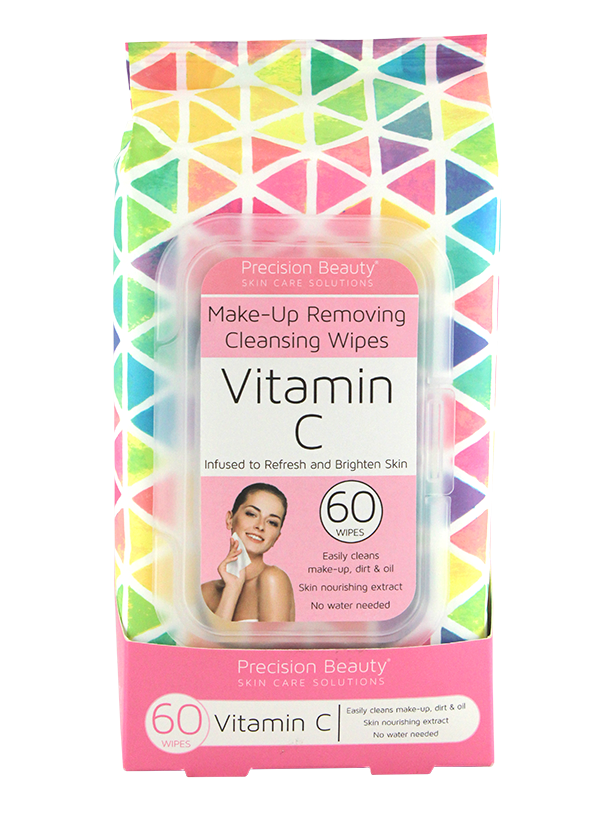 Precision Beauty Make Up Removing Cleansing Wipes, Vitamin C 60ct