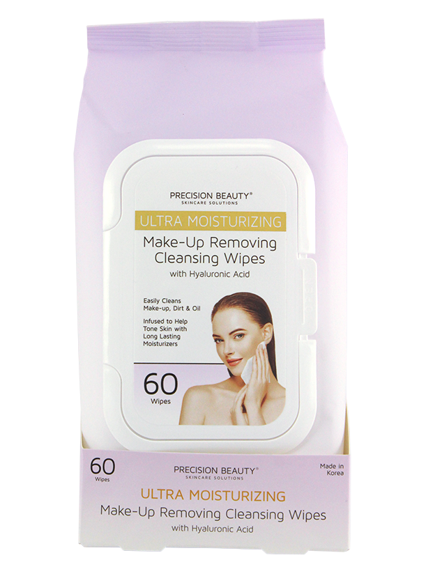 MAKE UP REMOVING CLEANSING WIPES, HYALURONIC ACID 60CT (PASTEL)