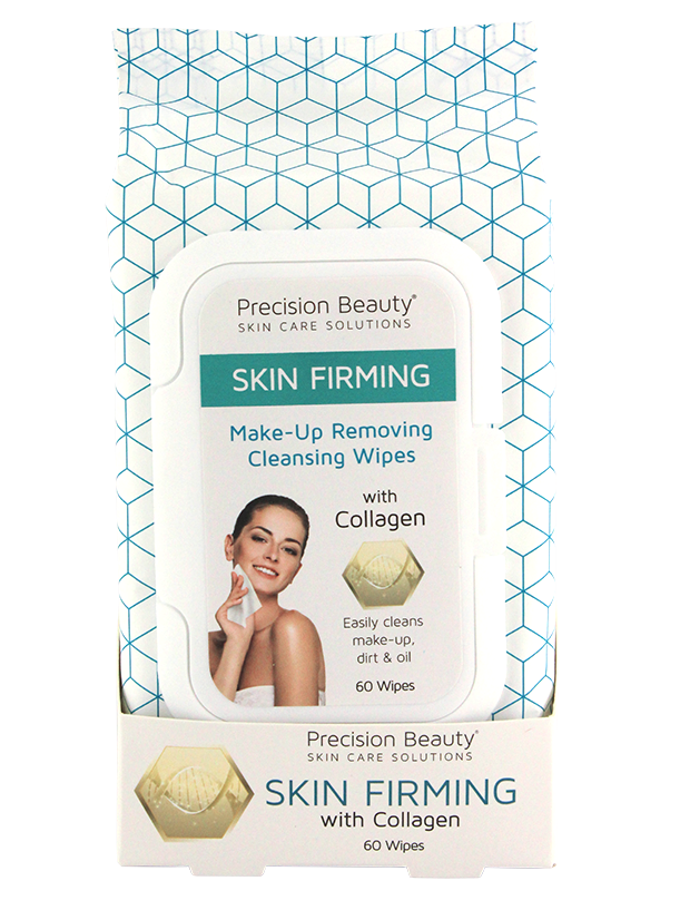 Precision Beauty Make Up Removing Cleansing Wipes, Collagen 60ct