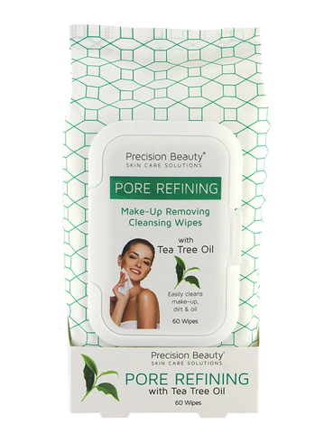Precision Beauty Make Up Removing Cleansing Wipes, Tea Tree Oil 60ct