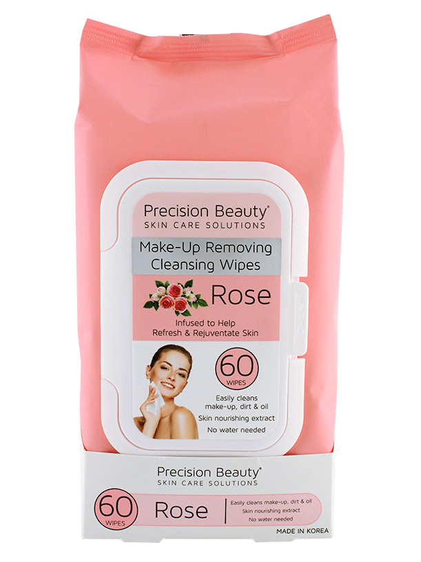 MAKE UP REMOVING CLEANSING WIPES, ROSE 60CT (PASTEL)