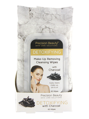 Precision Beauty Make Up Removing Cleansing Wipes, Charcoal 60ct