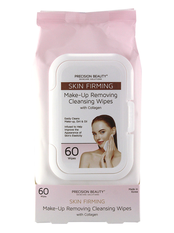 MAKE UP REMOVING CLEANSING WIPES, COLLAGEN 60CT