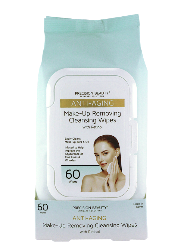 MAKE UP REMOVING CLEANSING WIPES, RETINOL 60CT