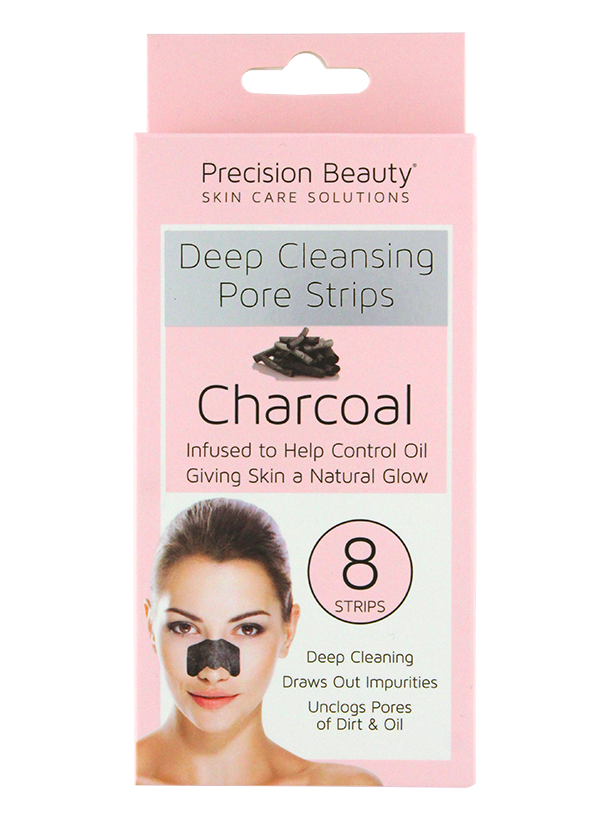 Precision Beauty 8 Pack Deep Cleansing Pore Strips Charcoal (Pastel)