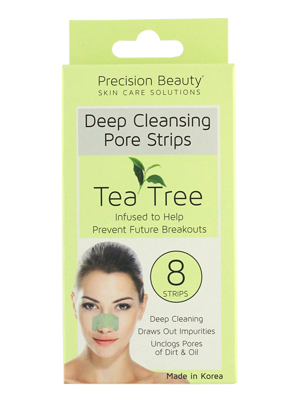 Precision Beauty 8 Pack Deep Cleansing Pore Strips Tea Tree (Pastel)