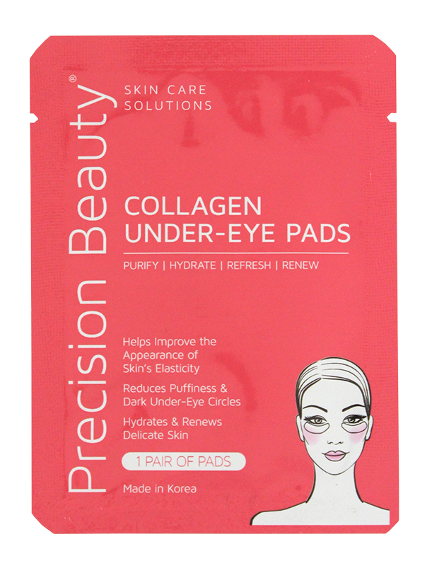 Precision Beauty 5 Pair Korean Under-Eye Pads, Collagen (Modern)