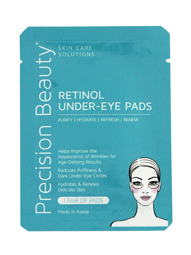 Precision Beauty 5 Pair Korean Under-Eye Pads, Retinol (Modern)