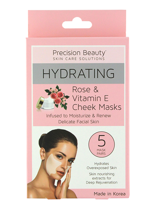 5PK ROSE & VITAMIN E CHEEK MASKS