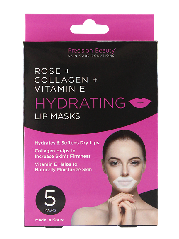 5 PK  LIP MASK, COLLAGEN, ROSE AND VIT E
