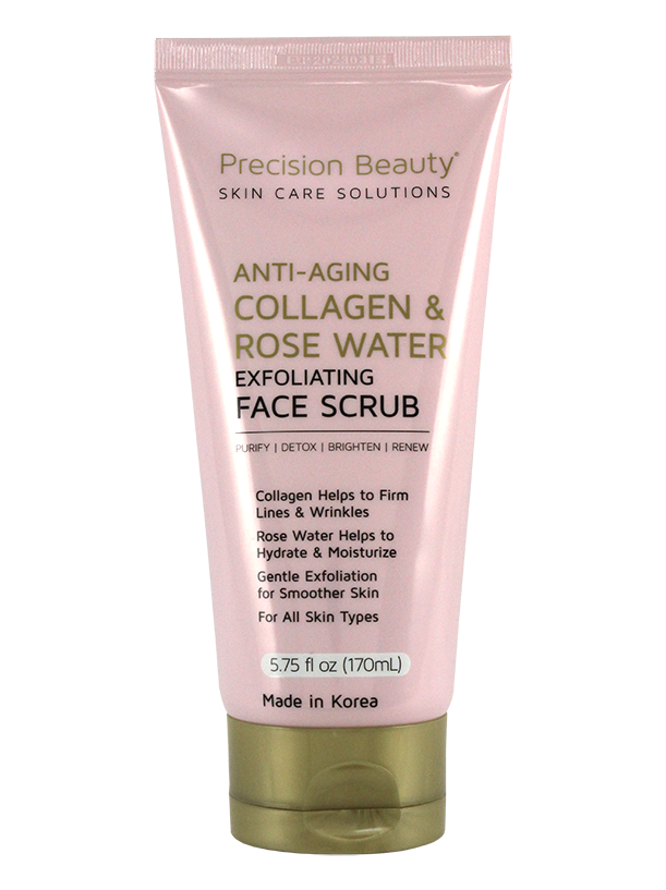 FACE AND BODY SCRUB. ROSE WATER & COLLAGEN. 170ML