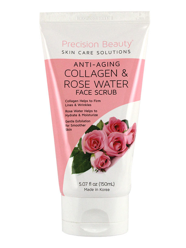 FACE AND BODY SCRUB. ROSE WATER & COLLAGEN. 150ML